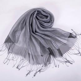 Drawn scarf organza Mulberry white Silk Organza Fashion