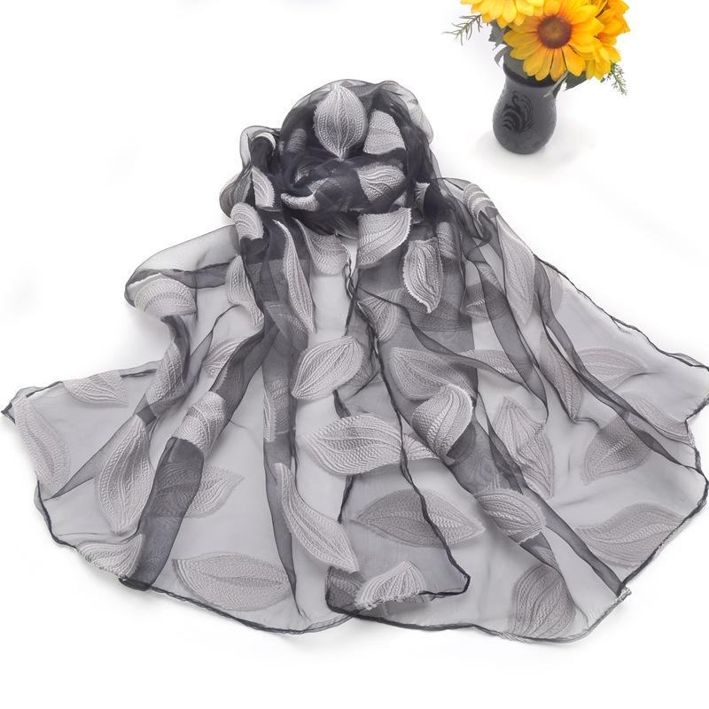 Drawn scarf organza Muslim Women's Hijab Embroider Muffler