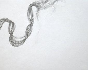Drawn scarf printed Silk Genuin Drawn Graphite Design