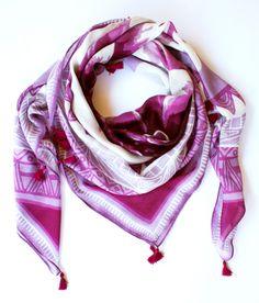 Drawn scarf printed Hand scarves with digitally Modal