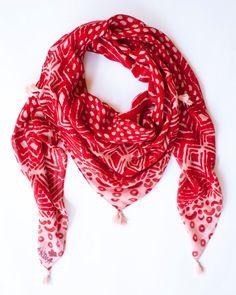 Drawn scarf printed Scarves Printed Modal digitally soft