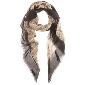 Drawn scarf printed Drawn scarves Printed Scarf Hand