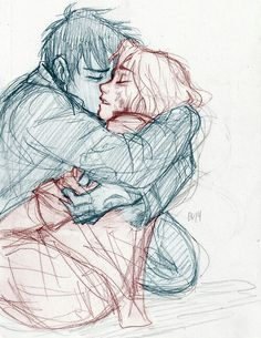 Drawn scarf sad Drawing her onto pencil die