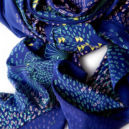 Drawn scarf screen Best COBALT Pinterest SCATTERED ON