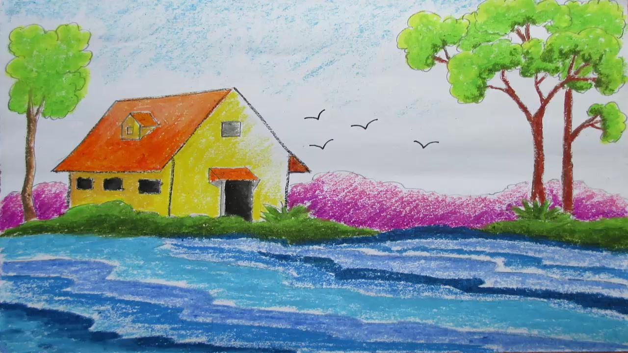 Drawn scenery Episode to  7 Pastel