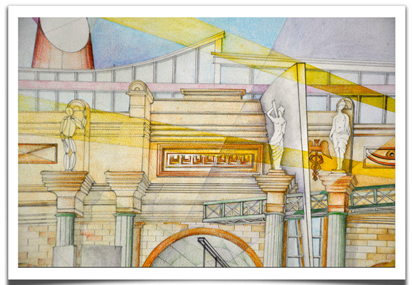 Drawn scenery architecture city Contest CAYC Scenery on drawing
