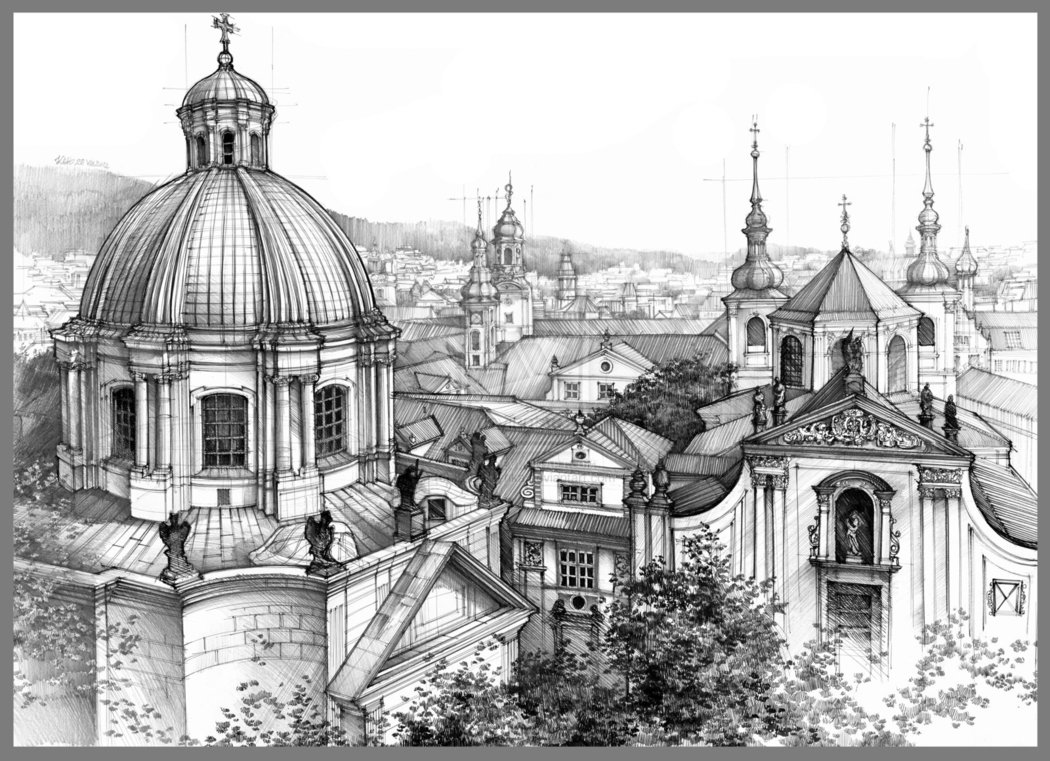 Drawn scenery architecture city Best Pinterest 173 on City