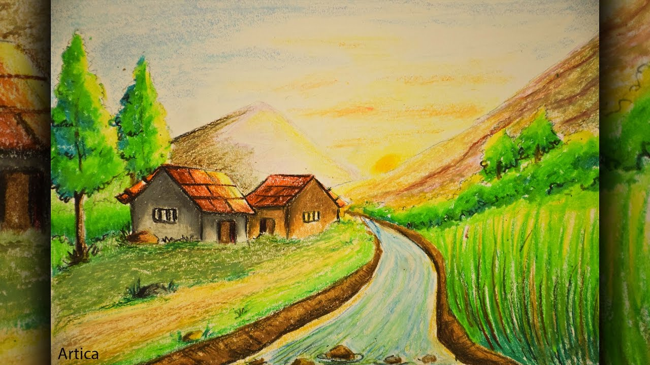 Drawn scenery beginner Scenery of Color Color Landscape
