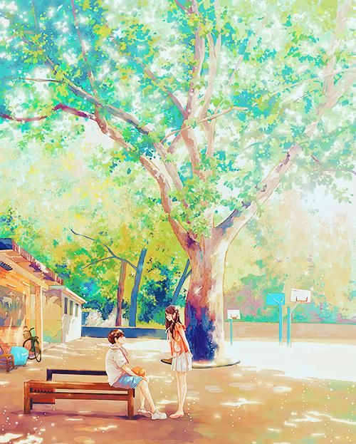 Drawn scenery boy ✮ ✮ ANIME scenery anime