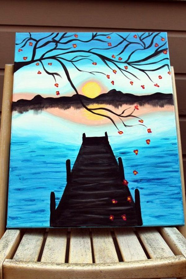 Drawn scenery canvas Pinterest  More Painting Paintings