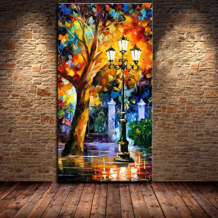 Drawn scenery canvas Modern Canvas Aliexpress Online hand