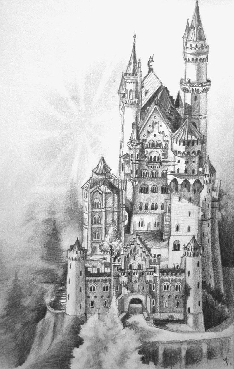 Drawn scenery castle On DeviantArt drawing Neuschwanstein Book