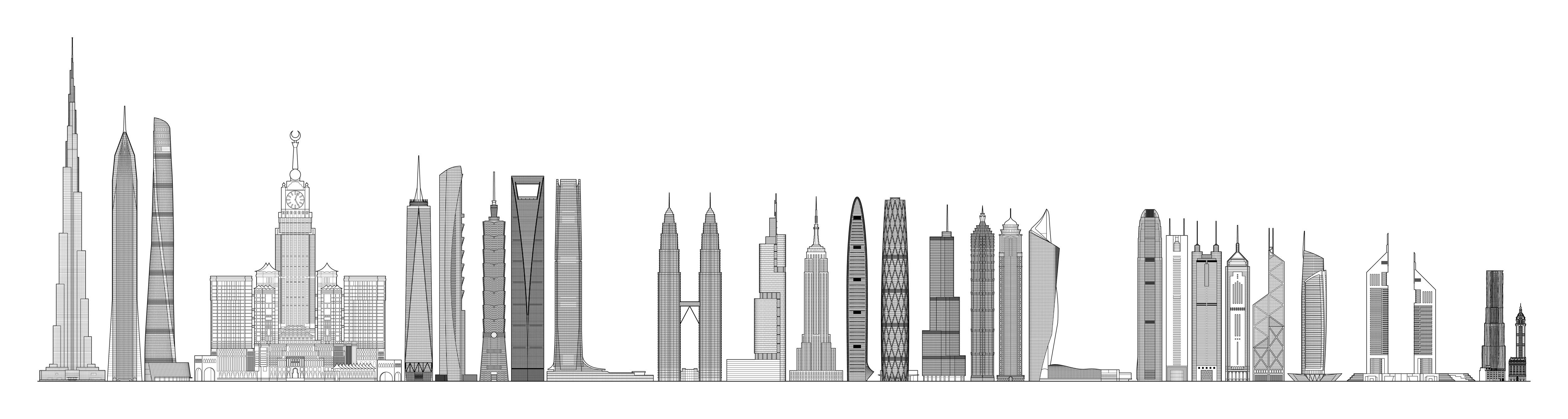Drawn scenery city building Image pixels) jpg 1335 (JPEG
