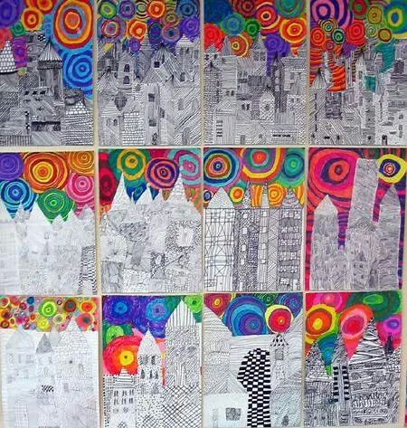 Drawn scenery cityscape Kids Art Cityscape Cityscape Drawing