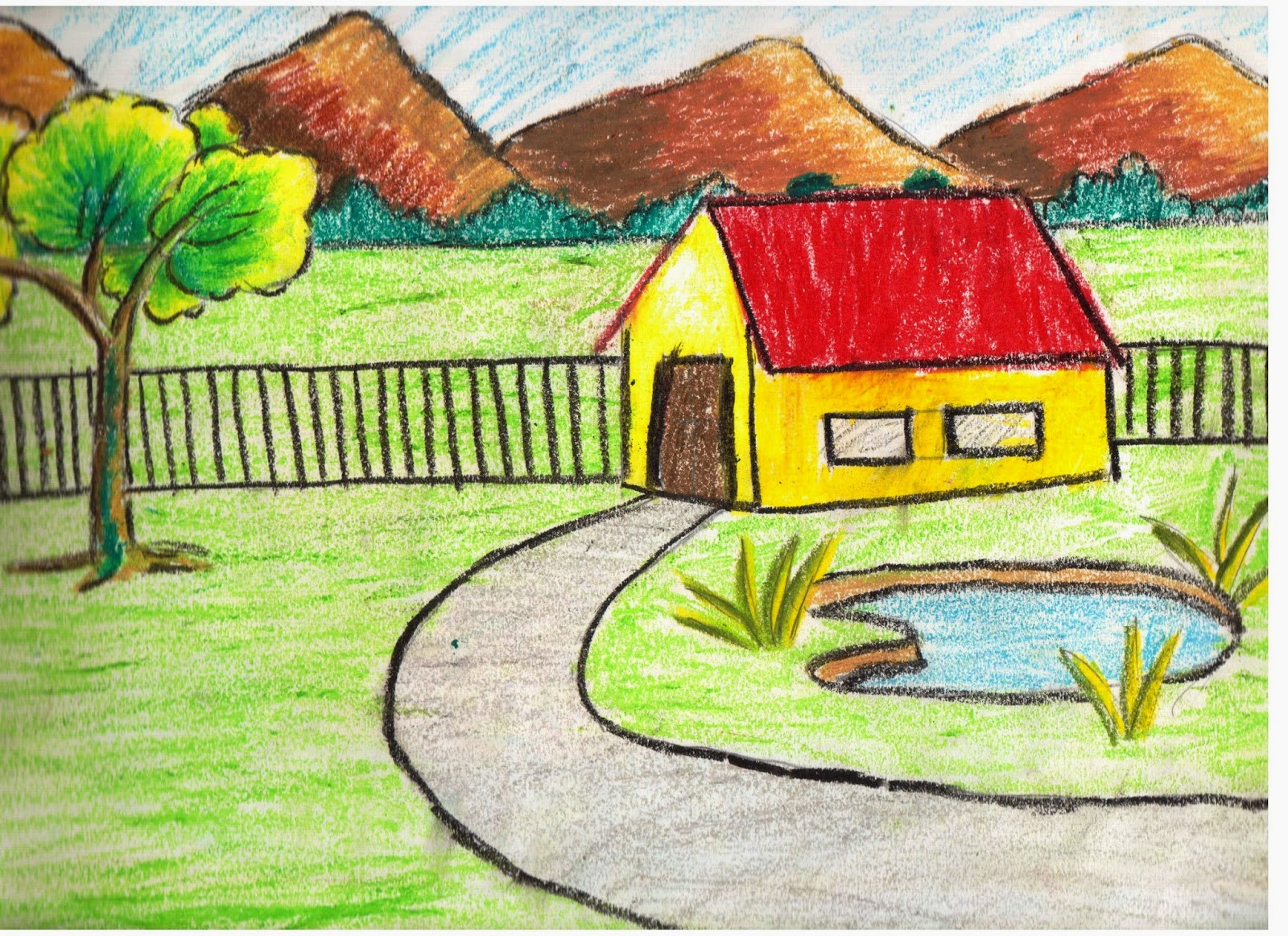 Drawn scenery class 4 Duttaditya18 Play children scenery drawings