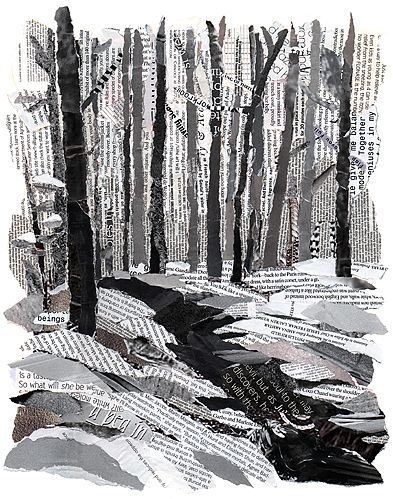 Drawn scenery collage work A Pinterest collage on How