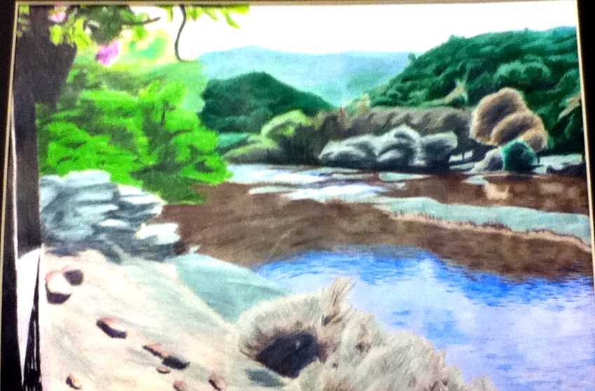 Drawn scenery colored pencil  pencil scenery by scenery