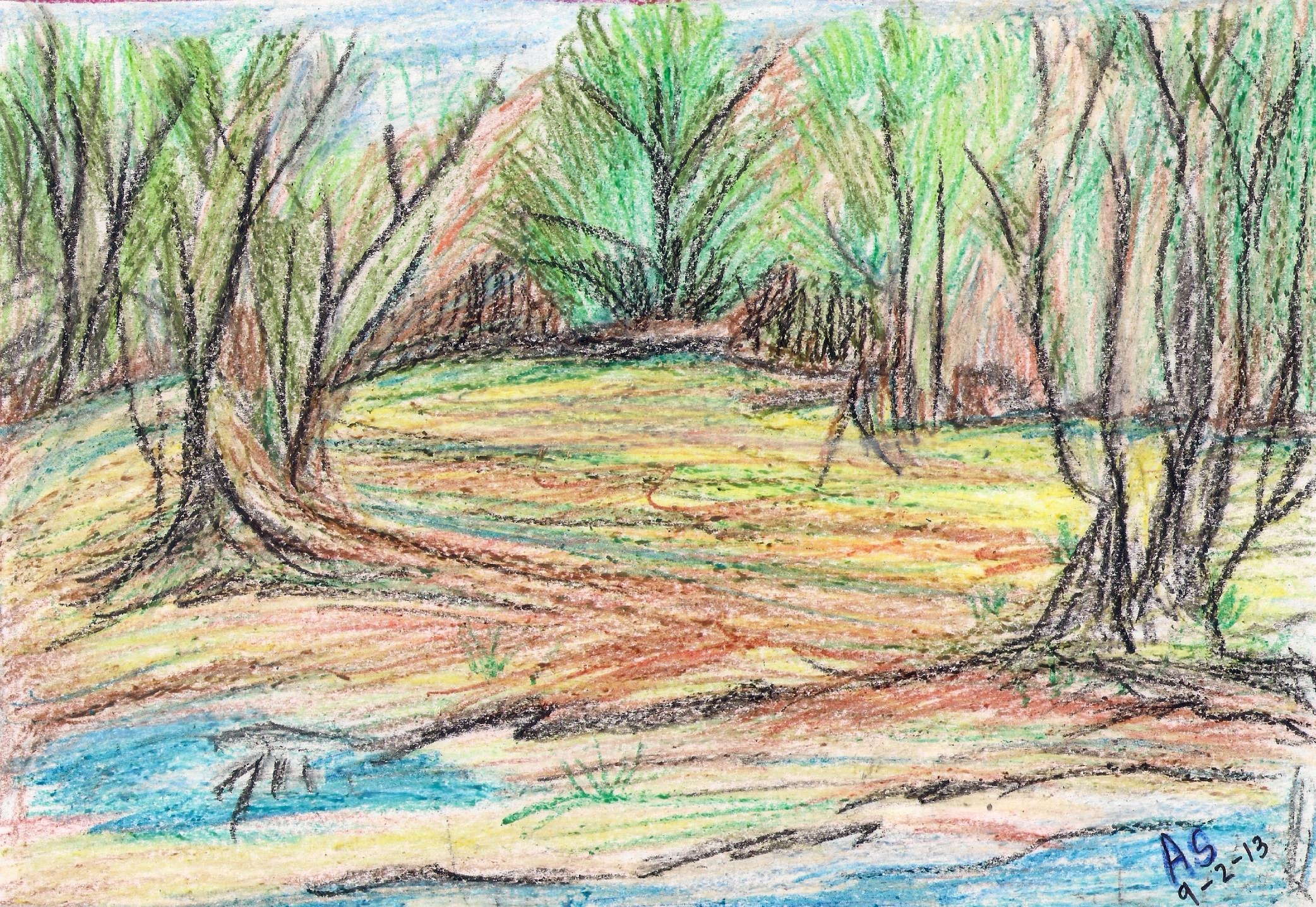 Drawn scenery crayon #crayons A Wax in #painting