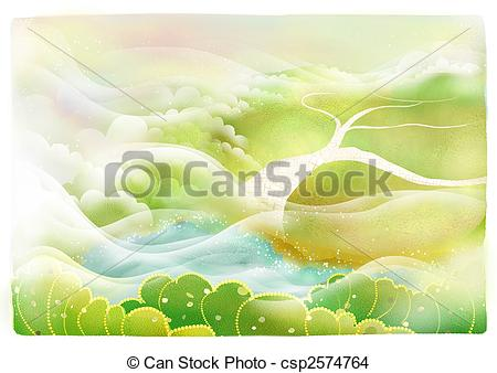 Drawn scenery cute Plant scenery Scenery drawing Illustrations