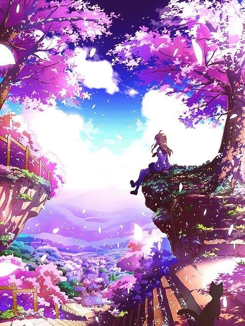 Drawn scenery cute Anime art Anime Pinterest Art/Illustration