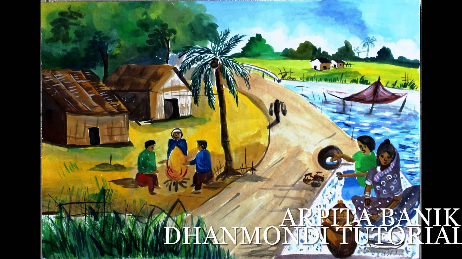 Drawn scenery day BANGLA from Drawing Pictures OLYMPIAD