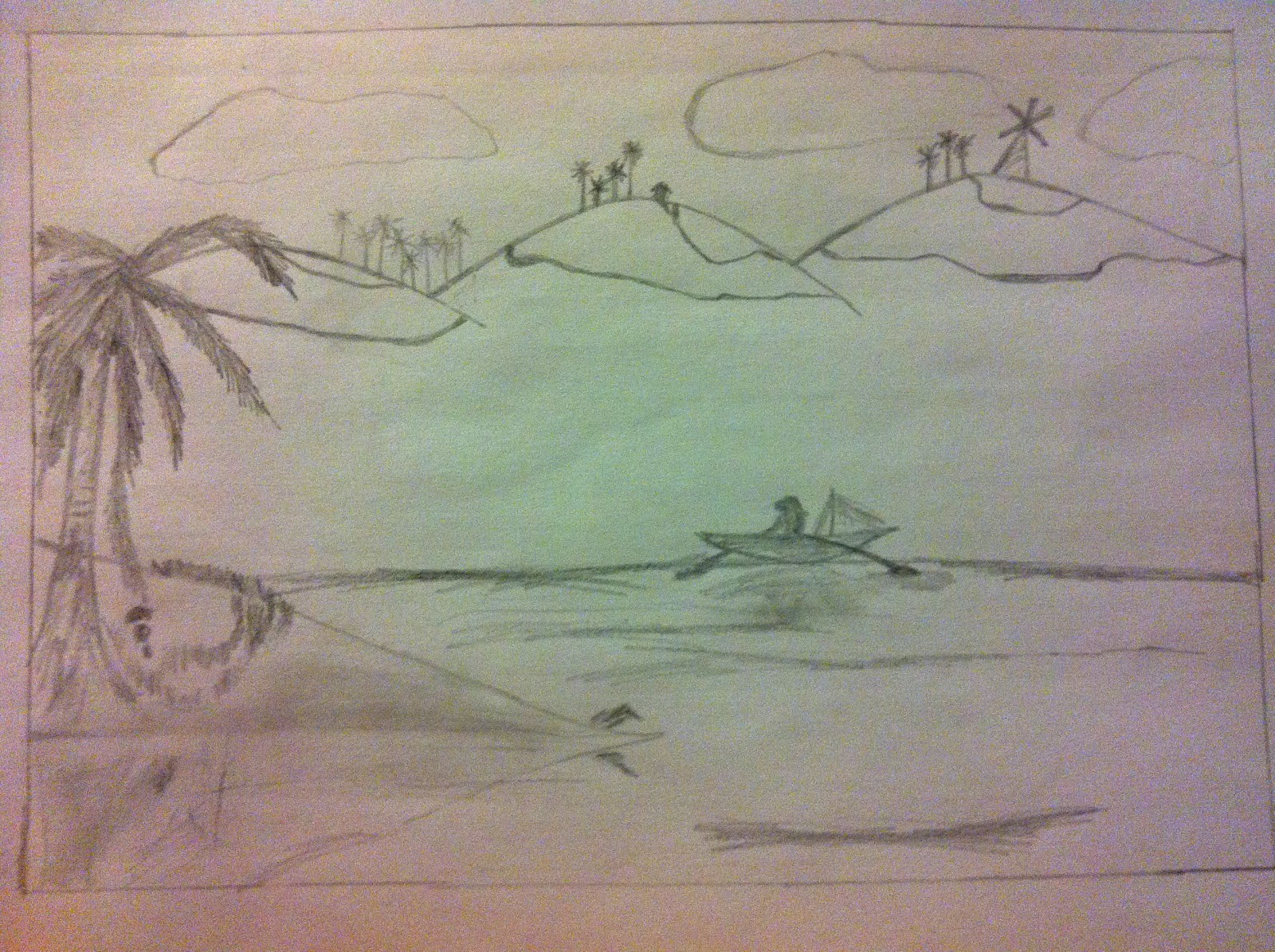Drawn scenery day Of Day Scenery Sketches Thursday