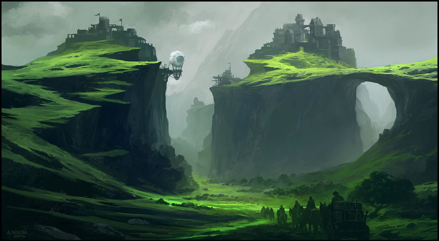 Drawn scenery emotional Illustrations by Scenery Outstanding Andreas