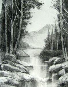 Drawn scenery emotional Pencil lápiz Gallery de a