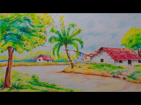 Drawn scenery for kid scenery Scenery Easy Drawing jpeg
