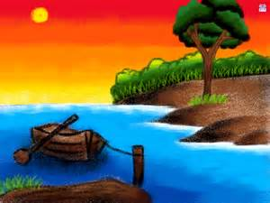 Drawn scenery for kid scenery Colour For drawing scenery Children