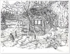 Drawn scenery japanese (scenery) to drawing sophisticated drawings