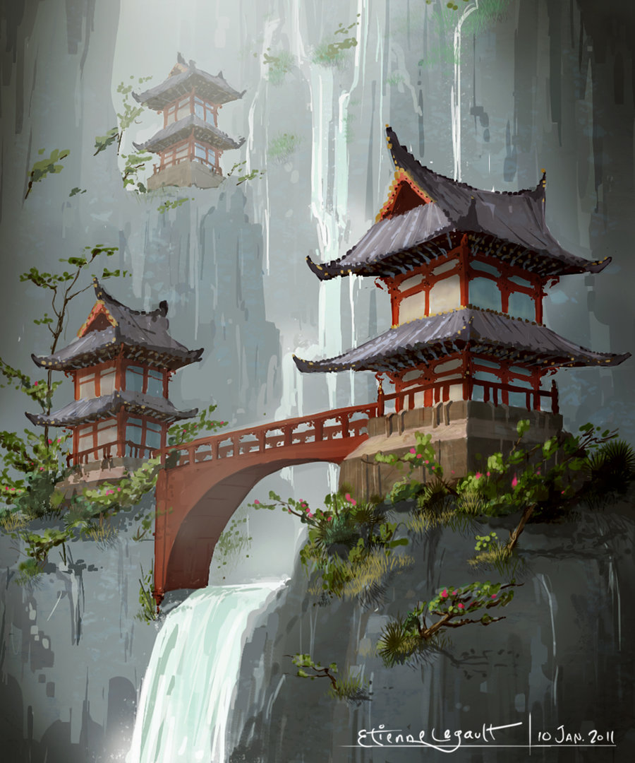 Drawn scenery japanese Like to this on art