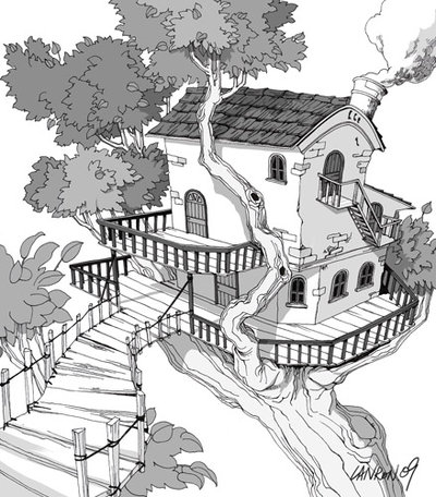 Drawn scenery line drawing Scenery Pics Natural scenery Drawing