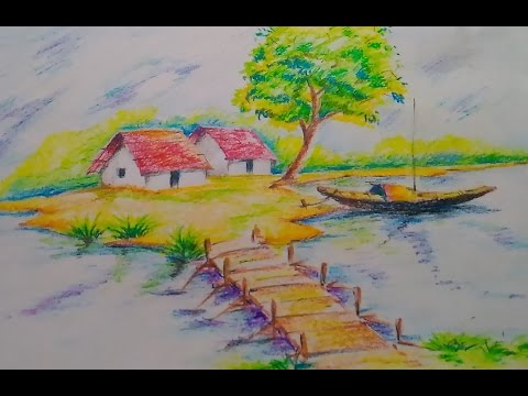 Drawn scenery nice scenery Scenery draw  drawing How