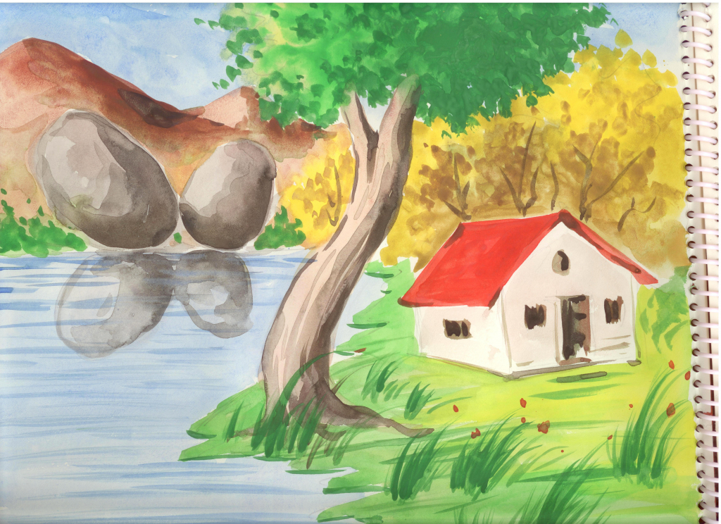 Drawn scenery nice scenery Drawings Color Art  Drawing