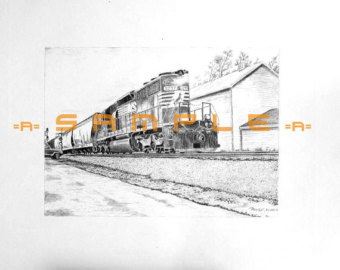 Drawn scenery norfolk Conway Locomotive G Hampshire GE