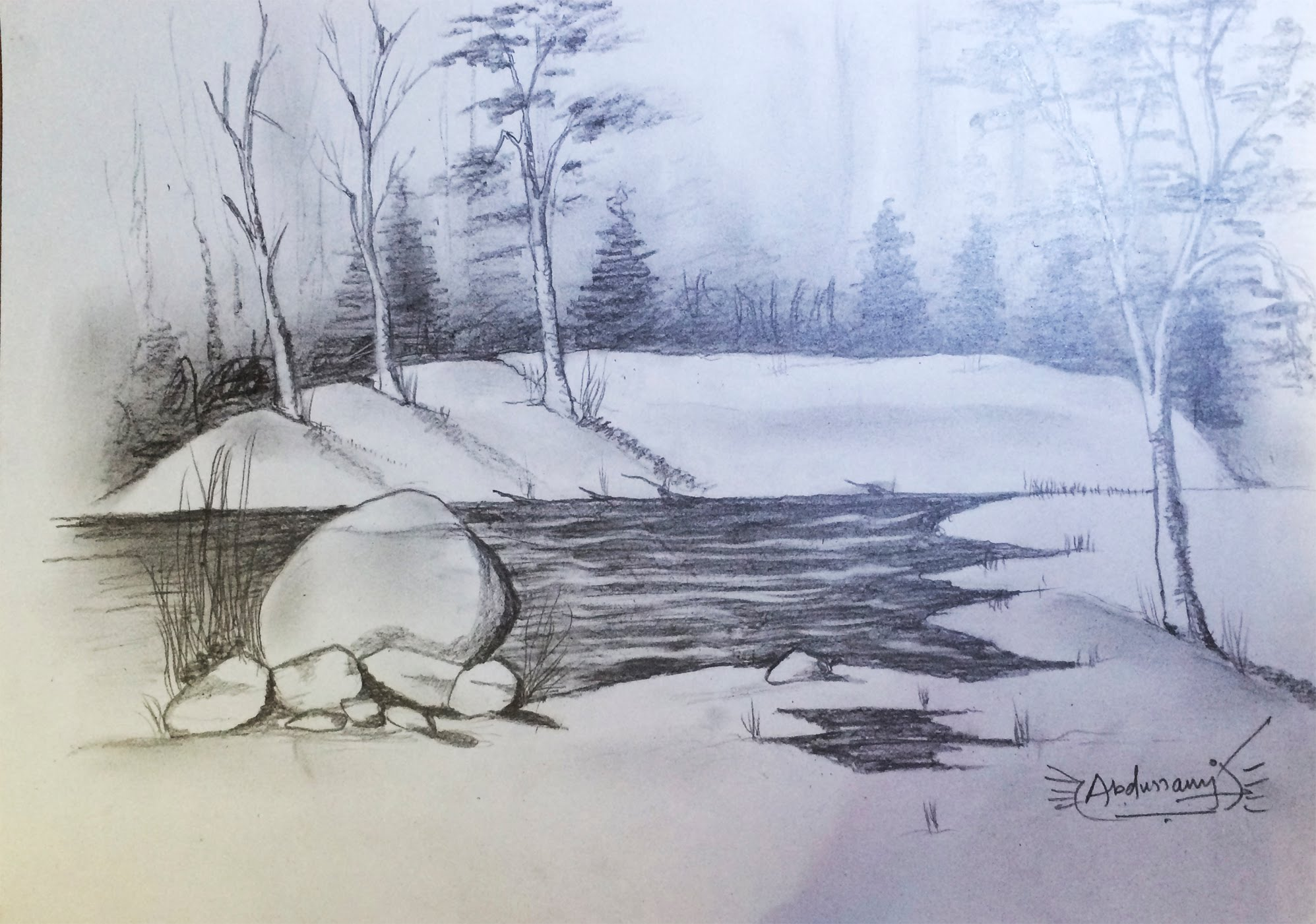 Drawn scenery pencil sketching Sketches scenery pencil sketches scenery