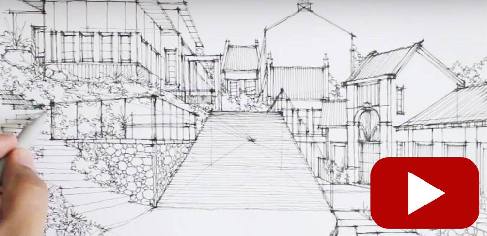 Drawn scenery perspective These YouTube to How Artist