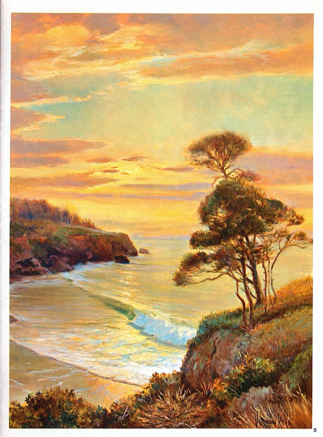 Drawn scenery poster colour Seascapes  paint to 6