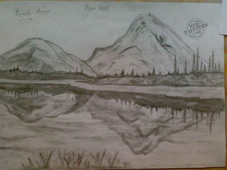 Drawn scenery rare Pencil of ink sketch Photos