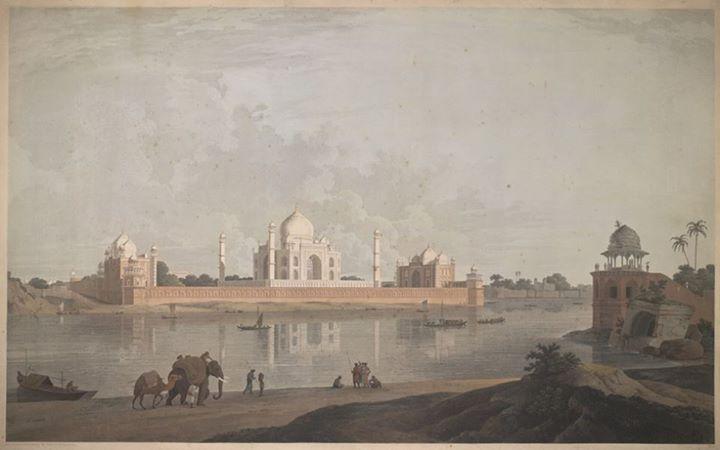 Drawn scenery rare And William Society India drawn
