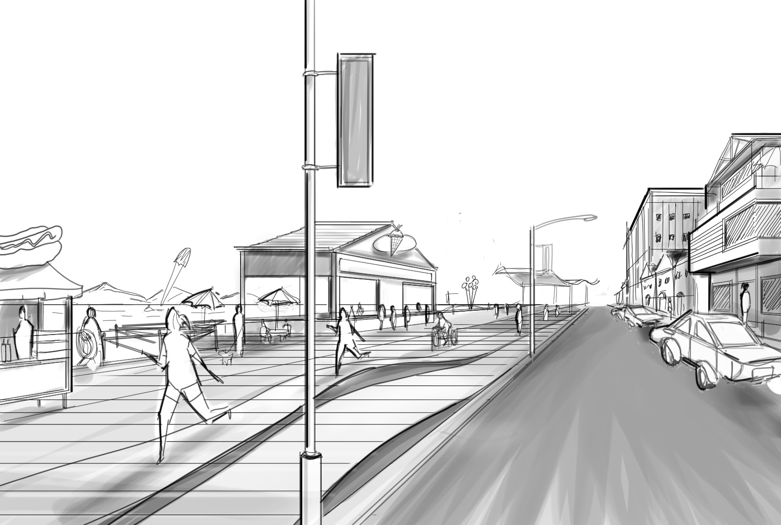 Drawn scenery street view Architectural to scene How Draw