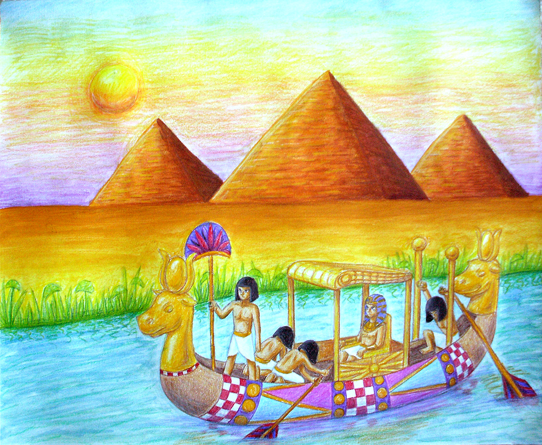 Drawn scenery sunrise  DeviantArt Flare by Egyptian