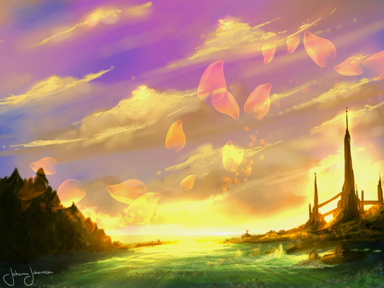 Drawn scenery vibrant Our art scenery Corner by