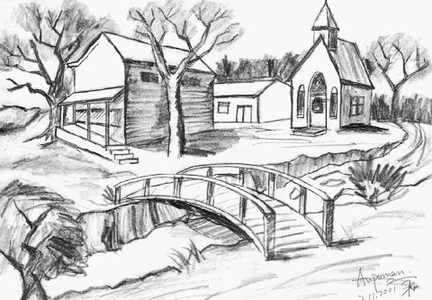 Drawn scenic Sketch Sketches of Pencil Get
