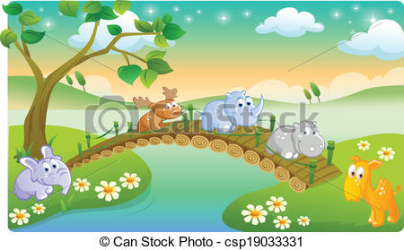 Scenic clipart natural scenery #1