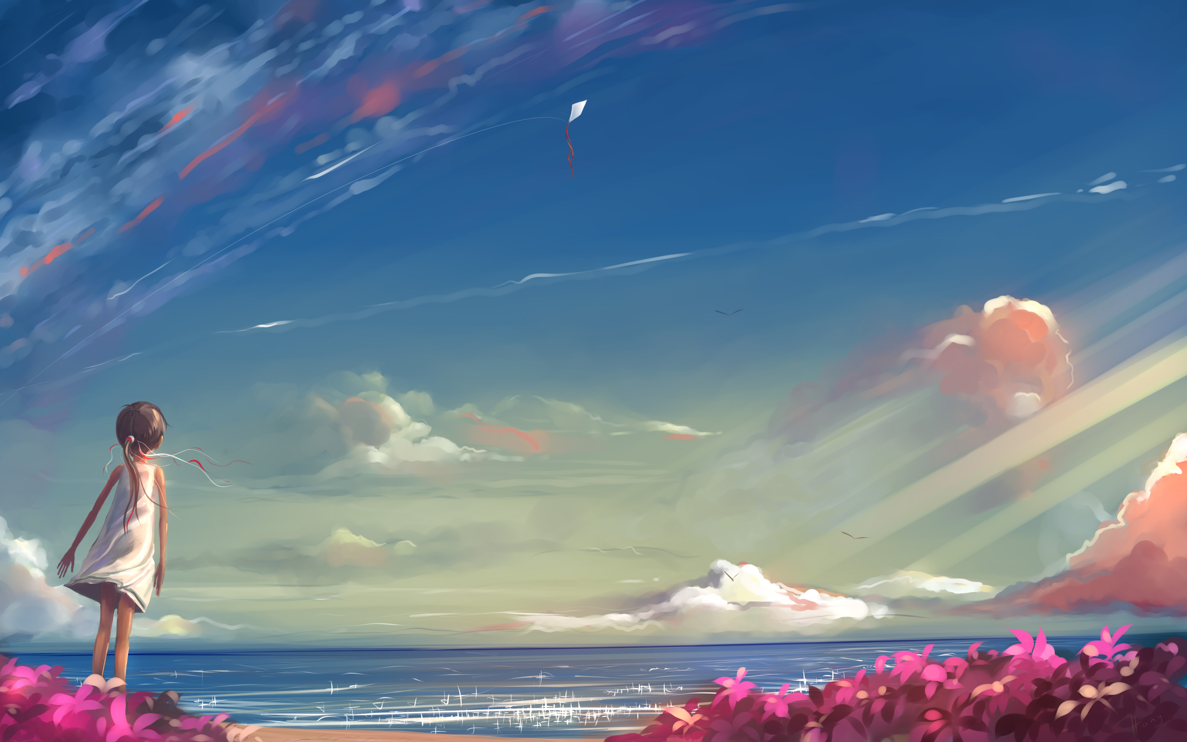Drawn scenic amazing scenery View version Anime Konachan Click
