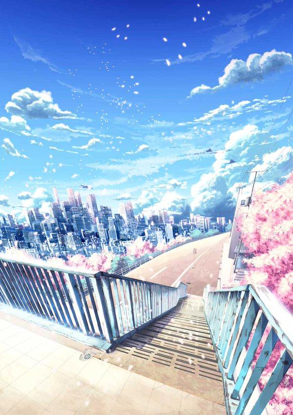 Drawn scenic anime  A Spark ★ Anime