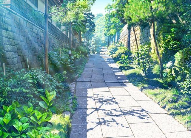 Drawn scenic anime Scenery City Background Background Visual