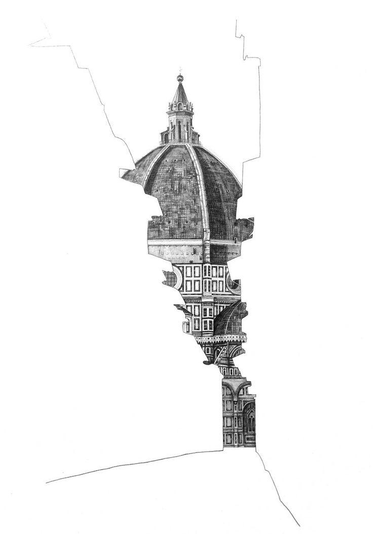 Drawn scenic architecture city City ideas Architectural Pinterest Empty